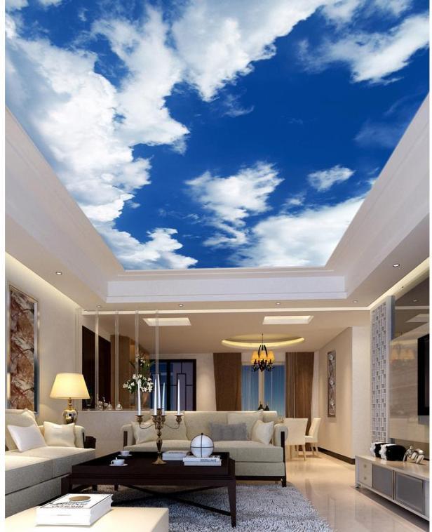 Vẽ trần mây hiện đại