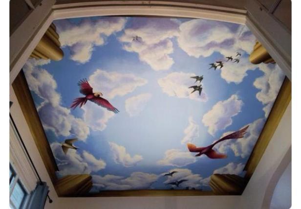 Vẽ tranh giả mây